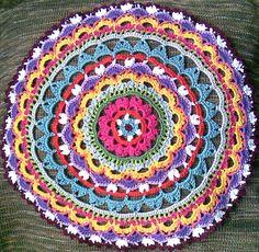 crochet mandala pattern | Ruthiejoy says: A crochet mandala - brilliant idea,beautiful piece of ..