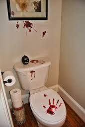 Image result for halloween toilet decor