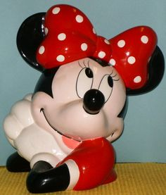 DISNEY MINNIE MOUSE COOKIE JAR, BY TREASURE CRAFT,