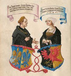 Jakob Fugger the rich & Sibille Artz Das Ehrenbuch der Fugger – BSB Cgm 9460, Augsburg, ca 1545-48 Seite 46.