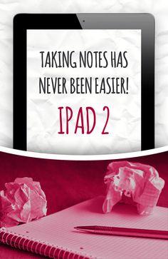 Refurbished Apple iPad 2 Verizon Black 32GB. Taking notes has never been easier!