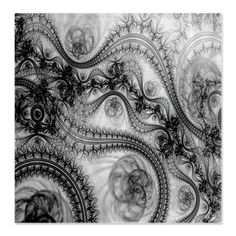 Asian Bathroom  Black and White Swirls and Circles Shower Curtain