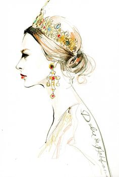 I would love to look like a Dolce Queen. -Dolce and Gabbana Fashion Illustration