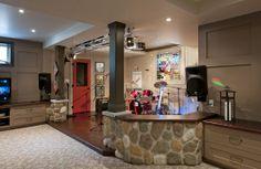 Fun Basement Ideas | Guelph - Fun Family Basement Renovation #basementdesign #coolbasement