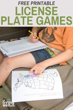 Whether you're at home or on a road trip, these license plate printable activity sheets will keep the kiddos occupied. Reading Games For Kids, Kid Games, Printable Planner, Free Printables, Boredom Busters For Kids, Road Trip Activities, Travel With Kids, Family Travel, Kits For Kids