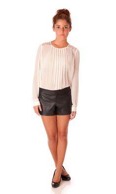 BB Dakota Brynn Leather Shorts #style #fashion #fall
