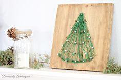 Christmas Home Tour 2013 String Art Christmas Tree