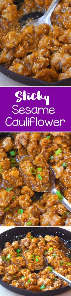 I make this recipe at least once a week, and we especially love the sticky sesame cauliflower sauce
