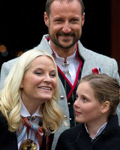 May 17, 2015 Crown Prince Haakon, Crown Princess Mette-Marit And Princess Ingrid Alexandra on Norway's National Day in Asker, near #Oslo.