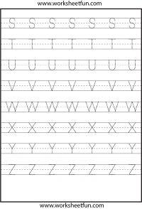 Shape Worksheets For Preschool, Alphabet Writing Worksheets, Handwriting Worksheets For Kids, Writing Practice Worksheets, Printable Alphabet Letters, Tracing Letters, Preschool Letters, Free Printable Worksheets, Alphabet Crafts