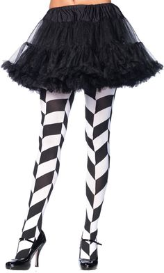 costume accessory: tights illusion black/white Case of 2