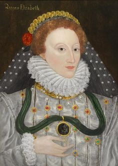 Elizabeth I of England - Queen Elizabeth the First. Portrait on Board. Anne Boleyn, Historical Costume, Historical Clothing, Sibylla Merian, George Edwards, Queen Of England, 16th Century, Queen Elizabeth, Painting & Drawing