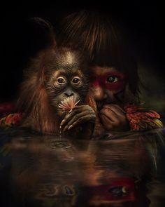 The Wonderful World Of Fantasy And Feeling Of The Artist Marcel Van Luit Surreal Photos, Surreal Art, World Of Fantasy, Fantasy Art, Dutch Artists, Animal Paintings, Marcel, Belle Photo, Love Art