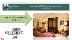 http://ift.tt/2kfohBm Contact Crutcher Real Estate Group at 417-893-0993 or check out our website at http://ift.tt/2dAw2jt. Crutcher Real Estate Group wants to be YOUR #1 selling agent! Inspection done & the requested repairs are completed. Beautiful 3 story home w/walk out basement! Nice brick front w/lots of mature landscaping & a large shade tree in the front yard. Immaculate and well cared for on the inside. Large vaulted ceiling in the living room feels huge and opens up to the dining…