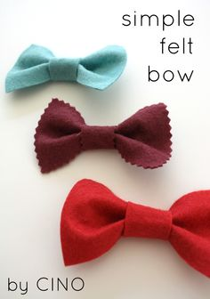 cut rectangle out of felt and glue pinched in center, then glue a strip around the center, can even make a bow tie by attaching it to a ribbon with velcro