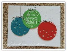 Among The Branches Simple Christmas Card featuring star confetti punch from Hand Stamped Style