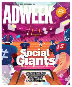 The New York Giants are set to defend their Super Bowl title, but the team is already winning at social media - via http://www.adweek.com/news/advertising-branding/electric-blue-143464