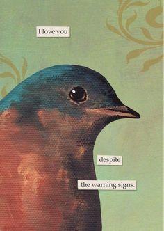 """Warning,"" by Mincing Mockinbird, Los Angeles"