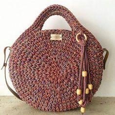 Round juta cord bag crochet tasseled handbag summer tote circular purse circle bags custom made – Artofit Bag Crochet, Crochet Handbags, Crochet Purses, Diy Laine, Round Bag, Crochet Round, Custom Bags, Knitted Bags, Crochet Accessories