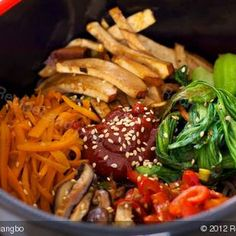 Recipe: Bibimbap Soba, Japanese-Korean fusion cuisine.