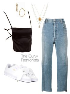 """""""Untitled #1115"""" by thecurvyfashionistaa ❤ liked on Polyvore featuring LC Lauren Conrad, Vetements, Puma, Rachel Essex and Bony Levy"""