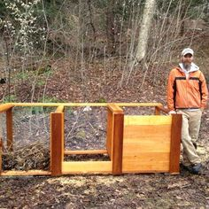 The Best Triple Compost Bin : 5 Steps (with Pictures) - Instructables Build Compost Bin, Homemade Compost Bin, Wooden Compost Bin, Organic Compost, Organic Gardening, Galvanized Nails, Kitchen Waste, Garbage Can, Garden Projects
