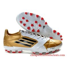 Adidas Adizero TRX AG cuir miCoach Bundle or rouge blanc Best Soccer Shoes, Cheap Soccer Shoes, Cheap Soccer Cleats, Leather Soccer Cleats, Nike Soccer Shoes, Soccer Boots, Football Boots, Adidas Shoes, Sneakers Nike