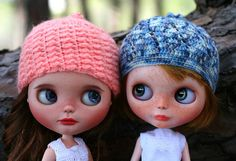 Lovely Unique Crochet Hats for Neo Blythe Doll by zsofianyu