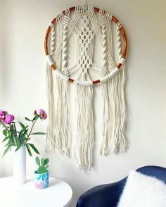 Tree Of Life Hippie Vintage Macrame Wall Hanging In Huge