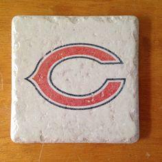 Chicago Bears coasters $18 on Etsy