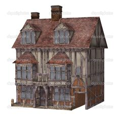 Medieval Townhouse  | Timber Trails: Turnkey tiny house, cabin kits, and custom cottage designs built of super-efficient, affordable, and easy-to-finish structural insulated panels (SIPs). Go to >> TimberTrails.TV