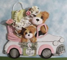 born to shop tear bears in car