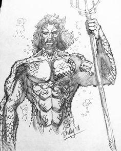 Aqua man :D Comic Art