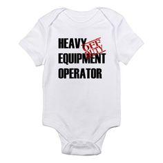 Off Duty Heavy Equipment Oper Infant Bodysuit