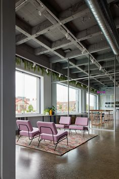 Best Workplace, Workplace Design, Interior Design Boards, Office Interior Design, Corporate Interiors, Office Interiors, Exposed Trusses, Community Housing, Luxury Office