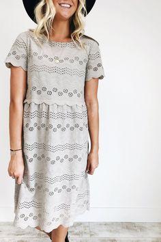 Floral Eyelet Lace Dress | ROOLEE
