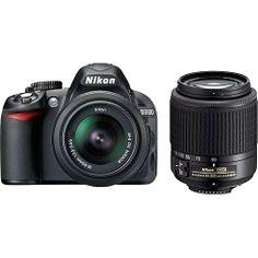 Nikon D3100 Digital SLR Camera with 18-55mm and 55-200mm Lens Black