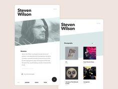 Musician Cards, clean design