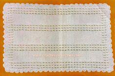 CROCHE COM RECEITA: Tapete em crochê com grande relevo