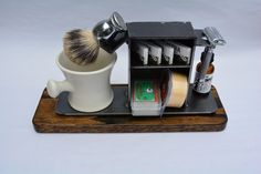 Shaving Stand for Razor Brush Cup and by DesireMetalWorks on Etsy