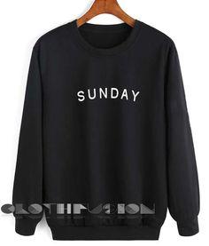 Unisex Crewneck Sunday Sweater Design Clothfusion //Price: $26 //     #shorts