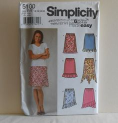 Simplicity 5100 Pullon Skirts Size 14 16 18 20 UNCUT by filecutter, $3.25