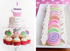 candy party cookies and cake