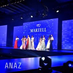 Anaz collection at martell fashion show