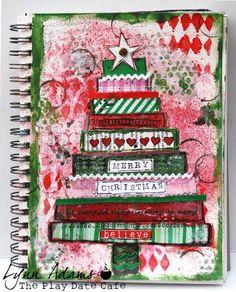 art journal Christmas tree