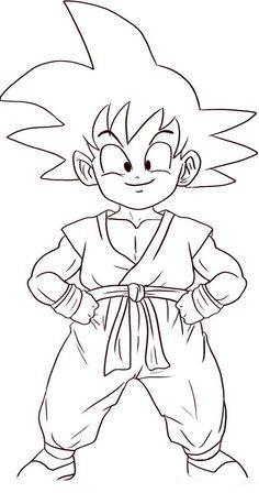 Desenhos De Goku Para Colorir E Imprimir Goku Desenho Desenhos