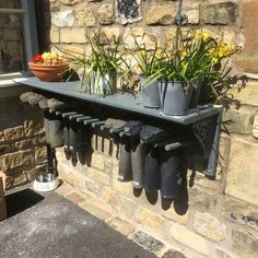 Welly rack and shelf #gardening #storage #outdoorfurniture