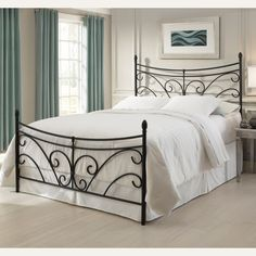 from  Humble Abode - $159.   Bergen Iron Bed by Fashion Bed Group  ground floor delivery