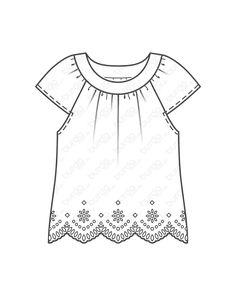 burda style, Katalog Schnitt, Bluse F/S 2017 #6502A, Diese Bluse im folklore style hat kurze Raglanärmel und breite Ausschnittblenden und ist typisch mit bunter Stickereibordüre beschmückt.