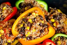 Make a week's worth of vegan mexican stuffed peppers in the slow cooker so you don't have to turn on the oven. 13 Easy Vegan Recipes To Make When It's Hot As Heck Outside Mexican Stuffed Peppers, Vegetarian Stuffed Peppers, Slow Cooker Stuffed Peppers, Grilled Stuffed Peppers, Vegan Slow Cooker, Slow Cooker Recipes, Crockpot Recipes, Cooking Recipes, Juice Recipes